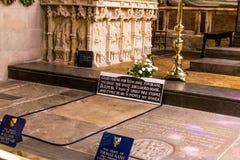 Grób sławny Angielski dramatopisarz William Shakespeare i poeta zdjęcie stock