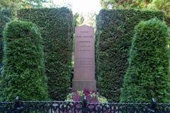 Grób sławna poeta Hans Christian Andersen Obraz Royalty Free