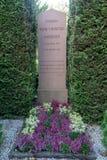 Grób sławna poeta Hans Christian Andersen Zdjęcie Royalty Free