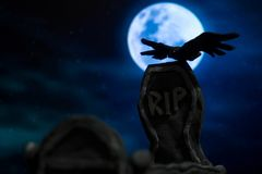 Grób w Halloween Zdjęcie Stock