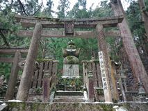 Grób w Okunoin cmentarzu, Koyasan fotografia royalty free