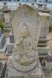 Grób Z Buddha statuą Przy Onomichi Japonia Zdjęcie Royalty Free