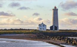 Grótta Island Lighthouse stock images