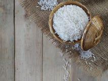 Grões do arroz branco Fotos de Stock Royalty Free