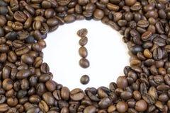 Grões Roasted do café preto imagem de stock royalty free