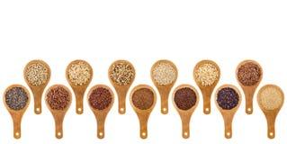 Grões sem glúten e sumário das sementes Fotografia de Stock Royalty Free