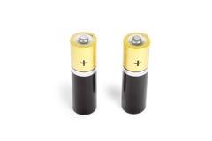 Größe AA mit zwei Batterien Lizenzfreie Stockfotografie