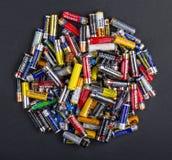 Größe der Batterien AA Stockfotografie