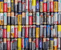 Größe der Batterien AA Lizenzfreie Stockbilder