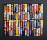 Größe der Batterien AA Lizenzfreies Stockbild