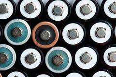 Größen-Batteriehintergrund des Stroms AA Lizenzfreie Stockfotografie