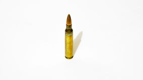 Größen 5 56 Millimeter-Gewehrkugel Stockfotos