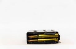 Größen 5 Zeitschrift mit 56 Millimeter-Gewehrkugeln Stockbild