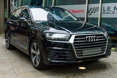 Größengleichluxusübergang SUV Audi Q7 3 0 TDI-quattro Stockfoto