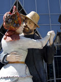 Größerer dann Leben-Tanzen-Herr und Dame Stockfotos
