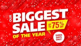 Größter Verkauf des Jahres lizenzfreie abbildung