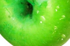 Grön äppledetalj Royaltyfria Foton
