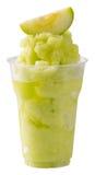 Grön äpplesmoothie Arkivbild