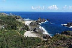 grön ö för strand Fotografering för Bildbyråer
