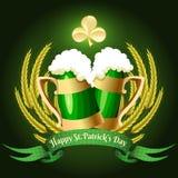 Grön öl Arkivfoton