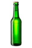 Grön ölflaska royaltyfria foton