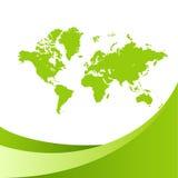 grön översiktsvärld för bakgrund vektor illustrationer