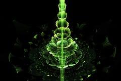 Grön abstrakt fractaljulgran Arkivbilder