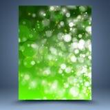 Grön abstrakt mall Fotografering för Bildbyråer
