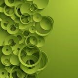Grön abstrakt mall stock illustrationer
