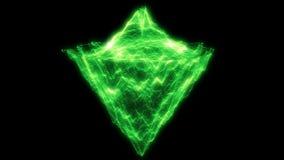 Grön abstrakt partikelbakgrund som är i stånd till att kretsa vektor illustrationer
