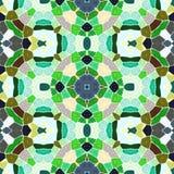 Grön abstrakt sömlös kalejdoskopmodelltextur vektor illustrationer