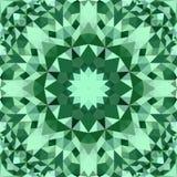 Grön abstrakt sömlös tapet för modell för triangelmosaikkalejdoskop vektor illustrationer