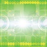 Grön abstrakt techbakgrund Royaltyfria Bilder