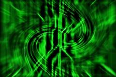 Grön abstrakt teknologibakgrund med kurvlinjer vektor illustrationer