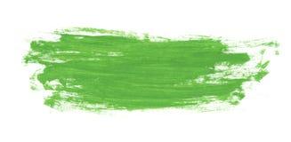 Grön abstrakt vattenfärgmålarfärgborste Arkivbild