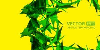 Grön abstraktion på guling Fotografering för Bildbyråer