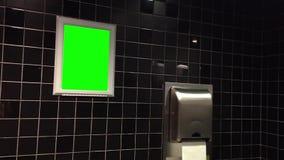 Grön affischtavla för din annons Arkivbild