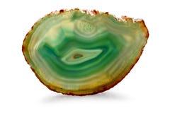Grön Agate - clippingbana Arkivbilder