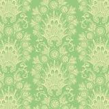Grön antik tappningblommabakgrund royaltyfri illustrationer