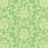 Grön antik tappningblommabakgrund Royaltyfri Bild