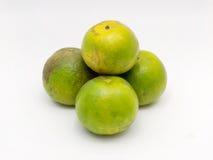 Grön apelsin Arkivbild