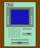 Grön ATM-maskin Royaltyfria Bilder
