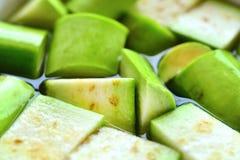 Grön aubergine Royaltyfria Bilder