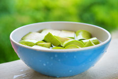 Grön aubergine Royaltyfri Fotografi