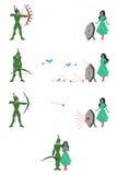 Grön bågskytt Arkivbild