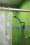 Grön badrum Arkivbilder