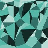 Grön bakgrund för abstrakta polygoner Arkivfoto