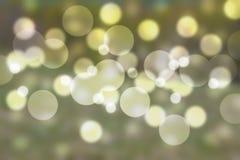 Grön bakgrund för bokehabstrakt begreppljus Royaltyfria Foton