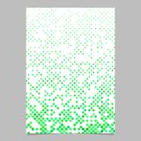 Grön bakgrund för broschyr för prickmodell Fotografering för Bildbyråer