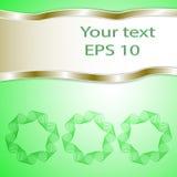 Grön bakgrund för diagram för text och meddelande Royaltyfria Foton